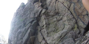after 5 months i started to climb top rope outside on a rock with some friends
